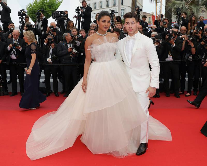 """CANNES, FRANCE - MAY 18: Priyanka Chopra and Nick Jonas attend the screening of """"Les Plus Belles Annees D'Une Vie"""" during the 72nd annual Cannes Film Festival on May 18, 2019 in Cannes, France. (Photo by Andreas Rentz/Getty Images)"""