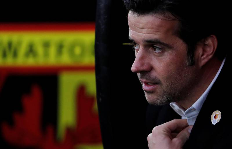 """Soccer Football - Premier League - Watford vs West Ham United - Vicarage Road, Watford, Britain - November 19, 2017   Watford manager Marco Silva before the match   REUTERS/Eddie Keogh    EDITORIAL USE ONLY. No use with unauthorized audio, video, data, fixture lists, club/league logos or """"live"""" services. Online in-match use limited to 75 images, no video emulation. No use in betting, games or single club/league/player publications. Please contact your account representative for further details."""