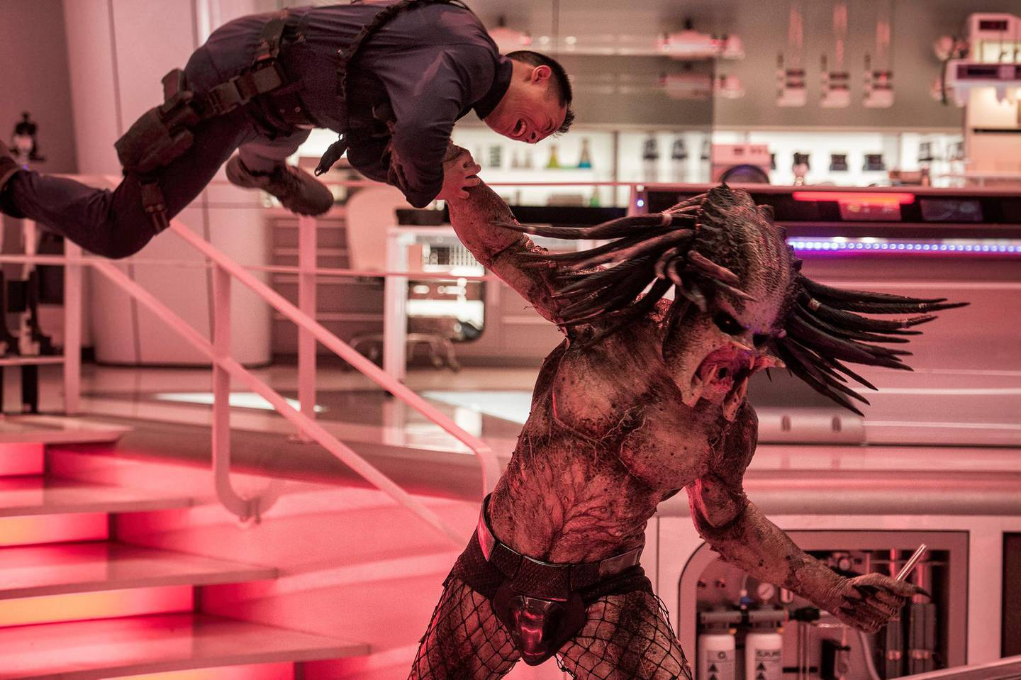 """This image released by 20th Century Fox shows a scene from """"The Predator."""" (Kimberley French/20th Century Fox via AP)"""