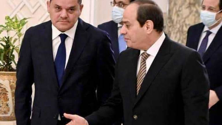 An image that illustrates this article Egypt's El Sisi assures Libyan PM of Cairo's support