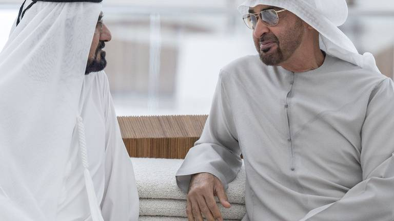 An image that illustrates this article UAE leaders meet at Expo 2020 Dubai