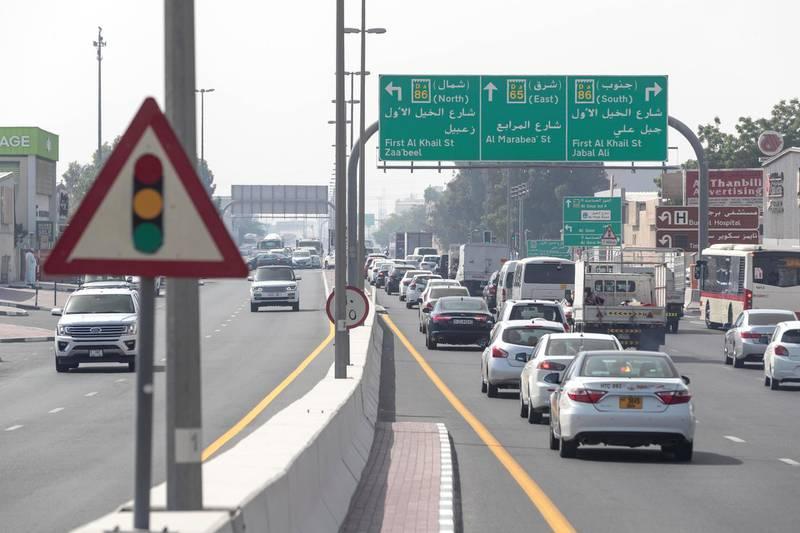 DUBAI, UNITED ARAB EMIRATES. 20 MAY 2018. General traffic in Dubai. STOCK PHOTOGRAPHY. (Photo: Antonie Robertson/The National) Journalist: None. Section: Stock.
