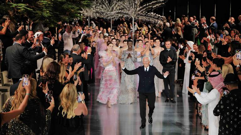 An image that illustrates this article Chris Martin to priceless couture: highlights from Armani's One Night Only Dubai