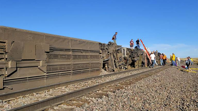 An image that illustrates this article At least three people killed as Amtrak train derails in US