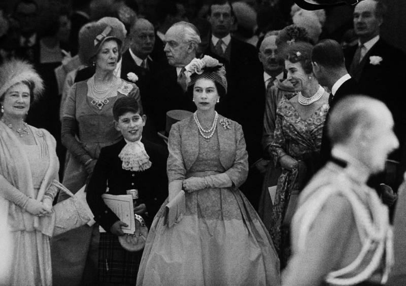 Queen Elizabeth the Queen Mother (L) with young Prince Charles and Queen Elizabeth II at Princess Margaret's wedding at Westminster Abbey in London, England, May 6, 1960. (Photo by Loomis Dean/The LIFE Picture Collection via Getty Images)