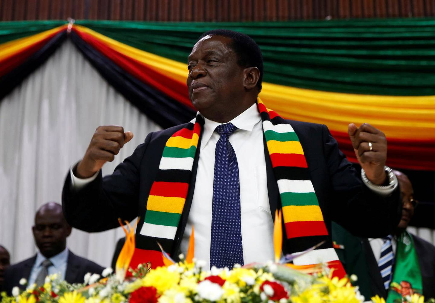 FILE PHOTO: Zimbabwe President Emmerson Mnangagwa announces the date for the general elections in Harare, Zimbabwe May 30, 2018. REUTERS/Philimon Bulawayo/File Photo