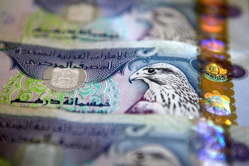 DUBAI, UNITED ARAB EMIRATES – July 15: Dirham is the currency of the United Arab Emirates. UAE dirham was introduced in 1973. (Pawan Singh / The National) *** Local Caption ***  PS01- DIRHAMS.jpg
