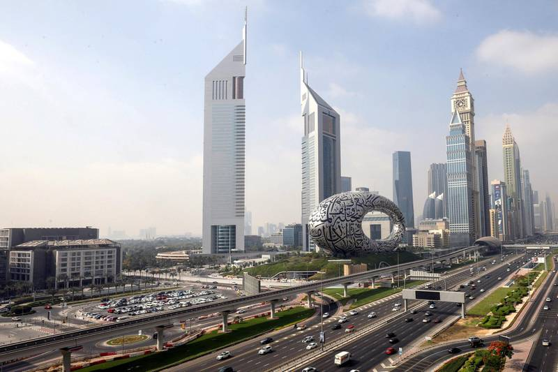 A general view of downtown in Dubai, United Arab Emirates, June 9, 2021. Picture taken June 9, 2021. REUTERS/Christopher Pike
