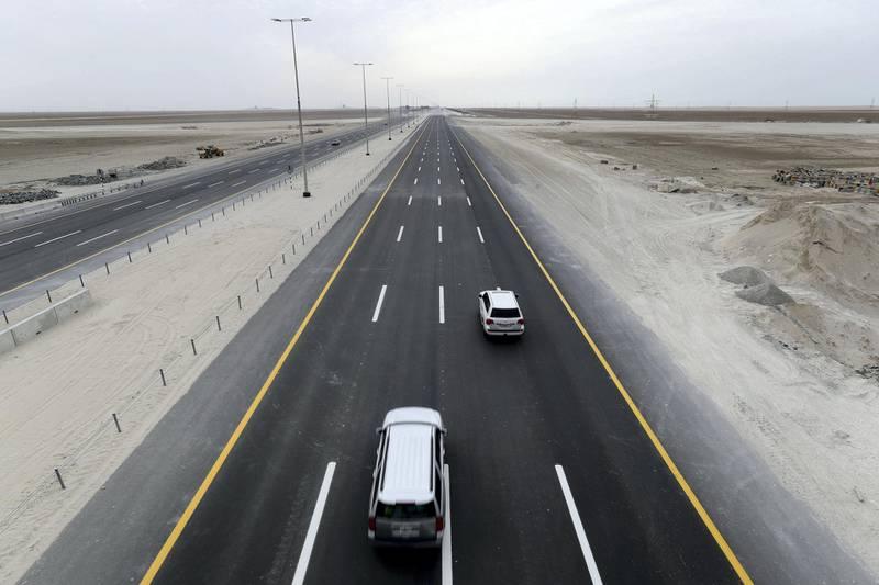 Abu Dhabi, United Arab Emirates - January 30th, 2018: The new Sheikh Khalifa Bin Zayed Highway. Tuesday, January 30th, 2018 in Abu Dhabi. Chris Whiteoak / The National