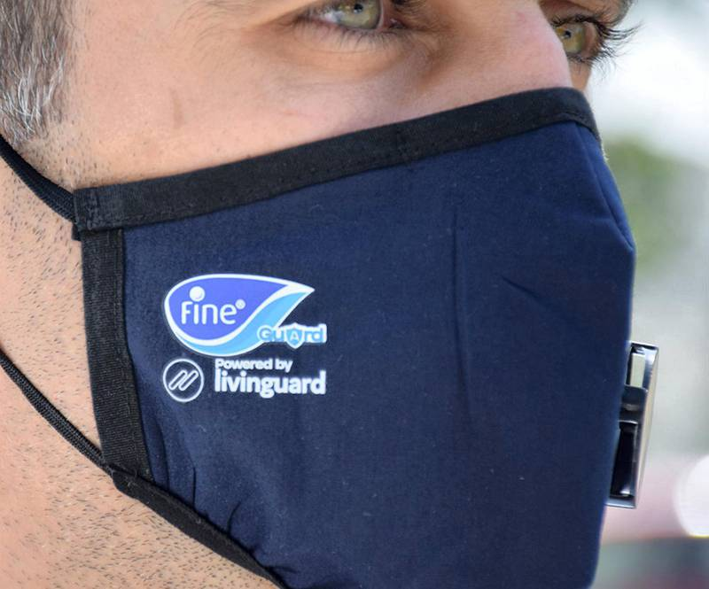 Pure reusable protective mask. courtesy: Fine hygienic holding.