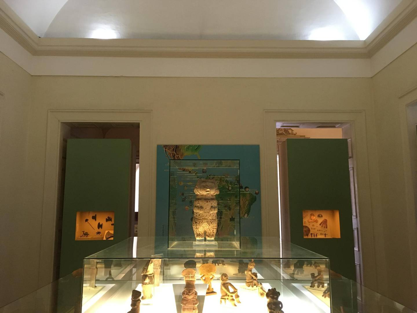"""View of pieces on display at the National Museum in Rio de Janeiro, Brazil, on October 9, 2017. - A massive fire on September 2, 2018 ripped through Rio de Janeiro's treasured National Museum, one of Brazil's oldest, in what the nation's president said was a """"tragic"""" loss of knowledge and heritage. Even before the embers had begun to cool early Monday, grief over the huge cultural loss had given way to anger at across-the-board budget cuts threatening Brazil's multi-cultural heritage. (Photo by Erwan LE BOURDONNEC / AFP)"""