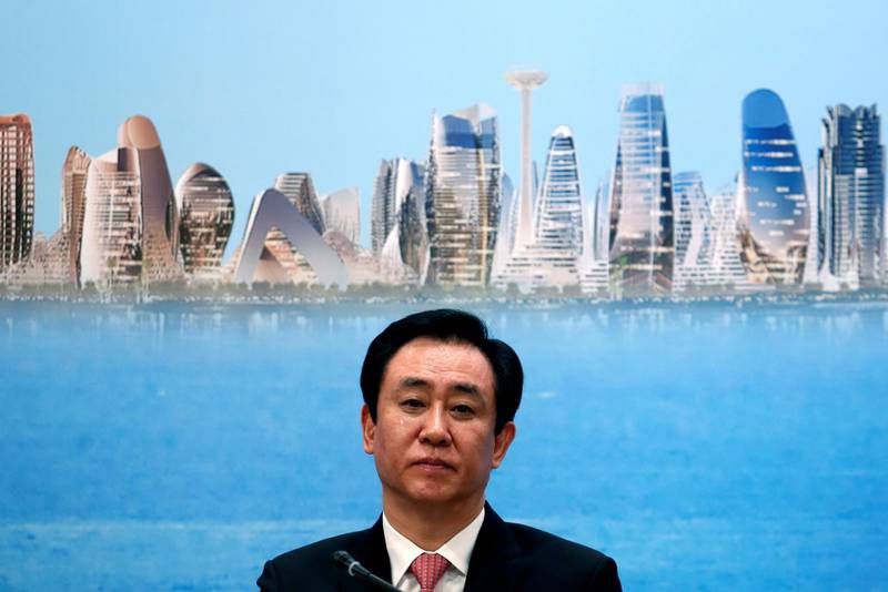 China Evergrande Group Chairman Hui Ka Yan attends a news conference on the property developer's annual results in Hong Kong, China March 28, 2017. REUTERS/Bobby Yip - RC170181D4E0