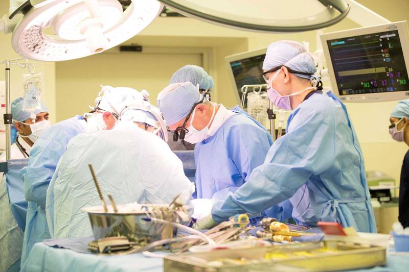 Surgeons perform the UAE's first full heart transplant at Cleveland Clinic Abu Dhabi. Photo Courtesy: Cleveland Clinic Abu Dhabi