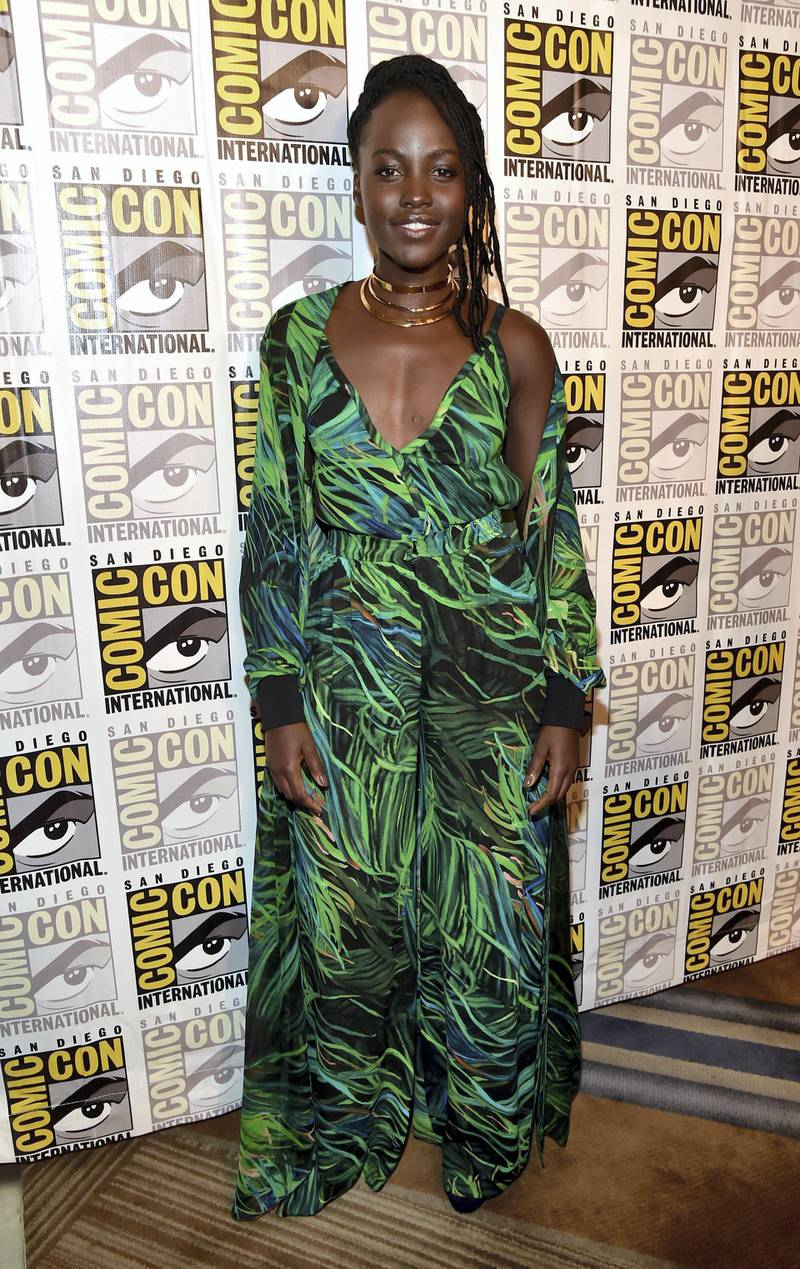 SAN DIEGO, CA - JULY 22:  Actor Lupita Nyong'o from Marvel Studios? ?Black Panther' at the San Diego Comic-Con International 2017 Marvel Studios Panel in Hall H on July 22, 2017 in San Diego, California.  (Photo by Alberto E. Rodriguez/Getty Images for Disney)