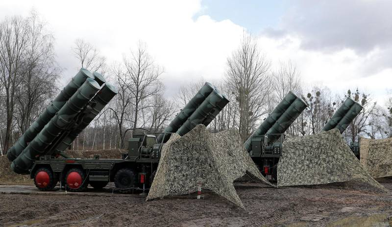 """A view shows a new S-400 """"Triumph"""" surface-to-air missile system after its deployment at a military base outside the town of Gvardeysk near Kaliningrad, Russia March 11, 2019. Picture taken March 11, 2019. REUTERS/Vitaly Nevar  NO RESALES. NO ARCHIVES."""