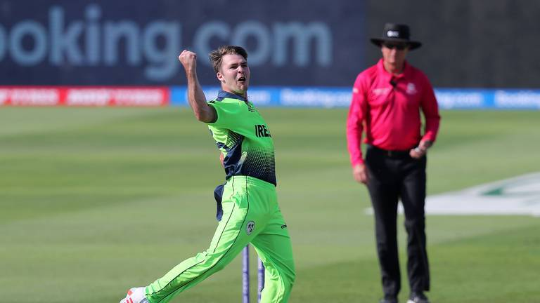 An image that illustrates this article Campher takes four wickets in four balls for Ireland