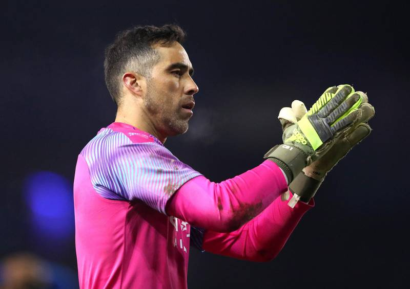 SHEFFIELD, ENGLAND - MARCH 04: Claudio Bravo of Manchester City applauds fans after the FA Cup Fifth Round match between Sheffield Wednesday and Manchester City at Hillsborough on March 04, 2020 in Sheffield, England. (Photo by Alex Livesey/Getty Images)