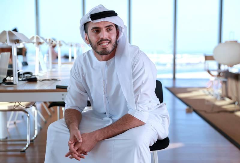 Abu Dhabi, United Arab Emirates, November 10, 2020.  Ahmed Al Qubaisi, CEO of Krews for a Generation Start-up story.   Shot at Hub71.Victor Besa/The NationalSection:  NAReprter:  Kelsey Warner