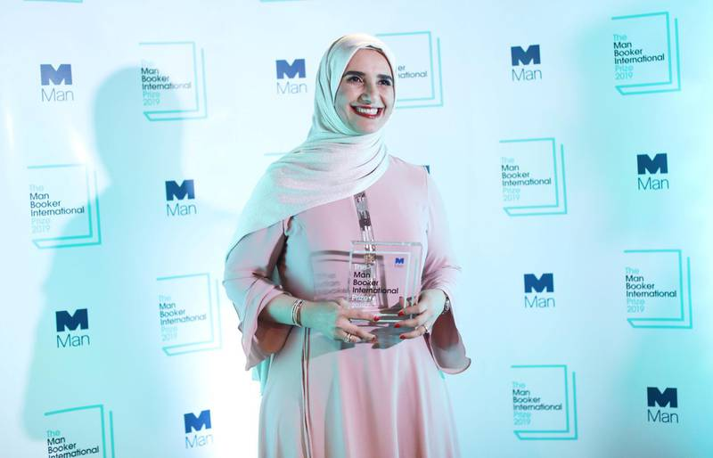 Omani author Jokha Alharthi poses after winning the Booker International Prize for the book 'Celestial Bodies' in London on May 21, 2019. (Photo by Isabel INFANTES / AFP)