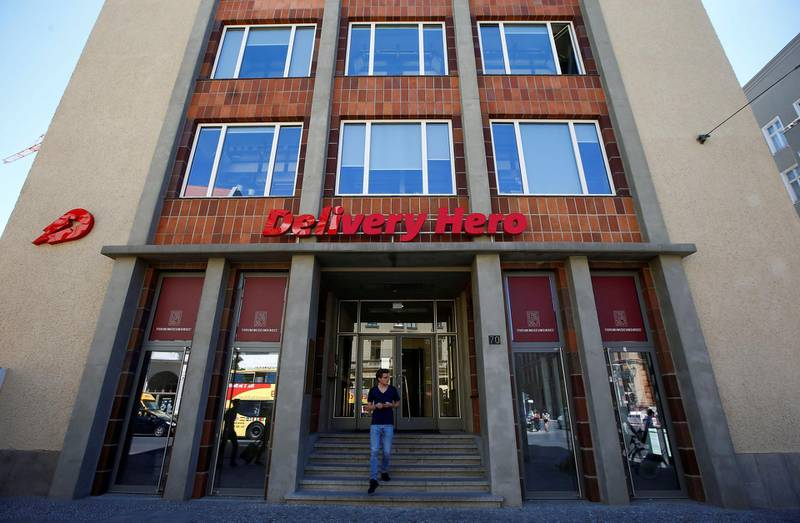 FILE PHOTO: The Delivery Hero headquarters is pictured in Berlin, Germany, June 2, 2017. The Berlin-based company Delivery Hero, one of Europe's largest internet start-ups. REUTERS/Fabrizio Bensch/File Photo