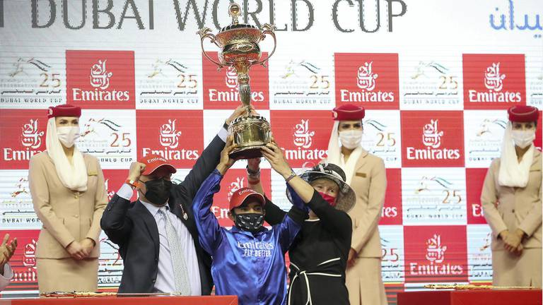 An image that illustrates this article Dubai World Cup receives boost in prize money to $30.5m