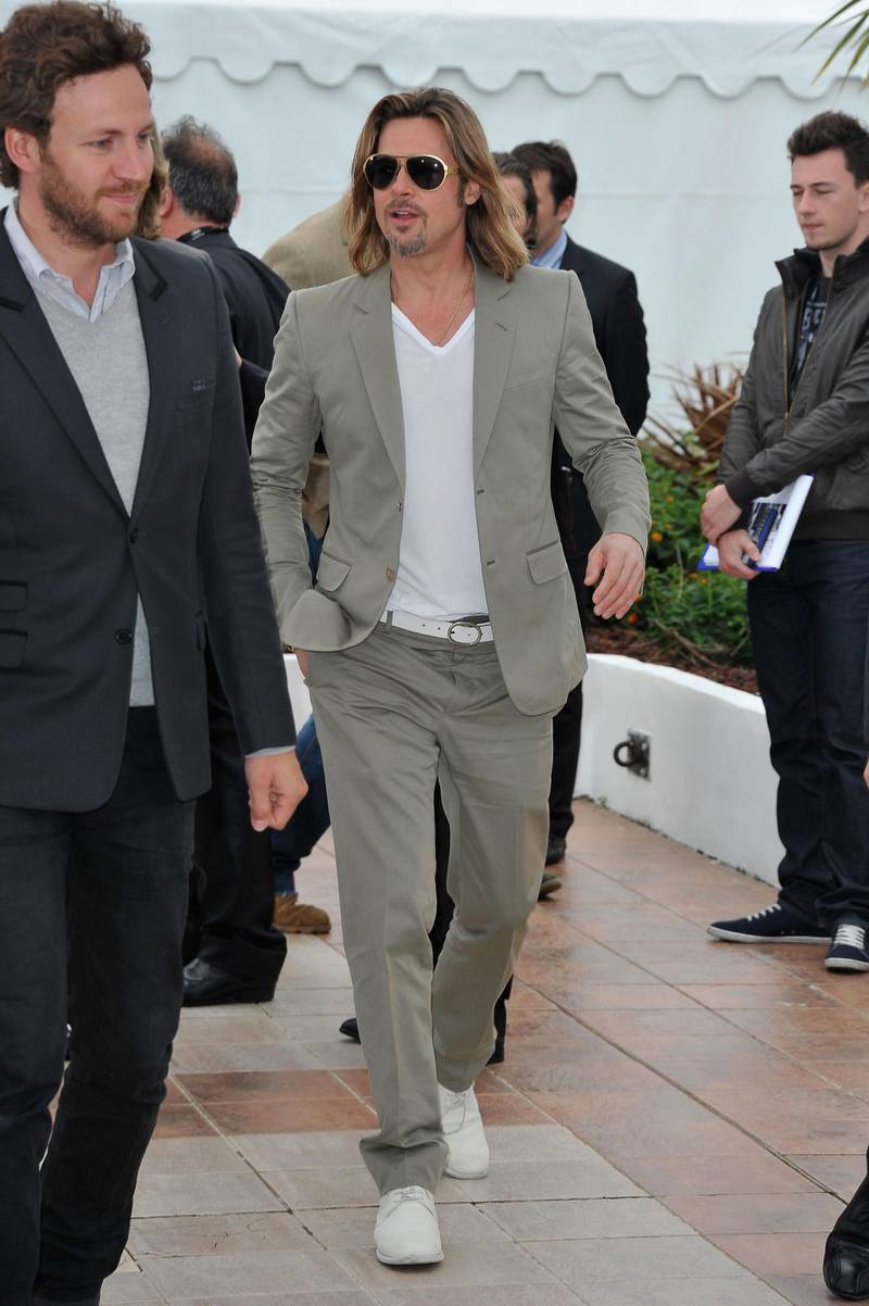 CANNES, FRANCE - MAY 22:  Actor Brad Pitt poses at the 'Killing Them Softly' photocall during the 65th Annual Cannes Film Festival at Palais des Festivals on May 22, 2012 in Cannes, France.  (Photo by Pascal Le Segretain/Getty Images)