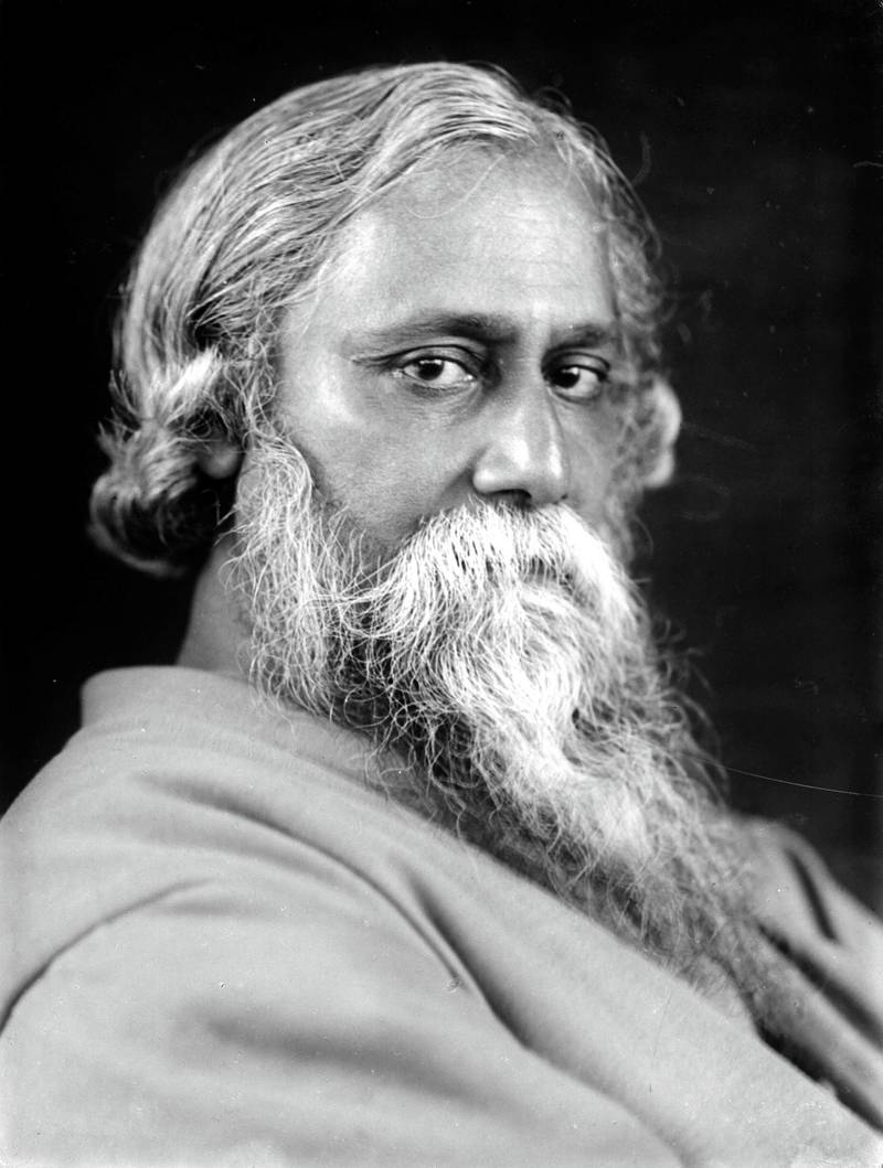 Indian philosopher, poet and painter Rabindranath Tagore (1861 - 1941), 1925. (Photo by Estate of Emil Bieber/Klaus Niermann/Getty Images) *** Local Caption *** Rabindranath Tagore