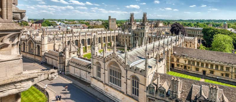 FJW711 Medieval Skyline of the university city Oxford England. | Aussicht ueber die Altstadt von Oxford, England