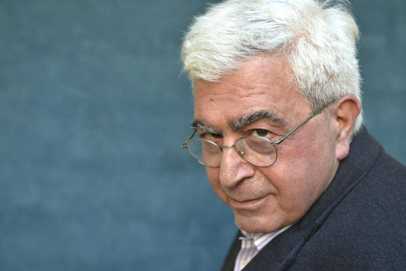 PARIS, FRANCE - SEPTEMBER 24. Lebanese writer Elias Khoury poses during a portrait session on September 24, 2013 in Paris, France.  (Photo by Ulf Andersen/Getty Images)