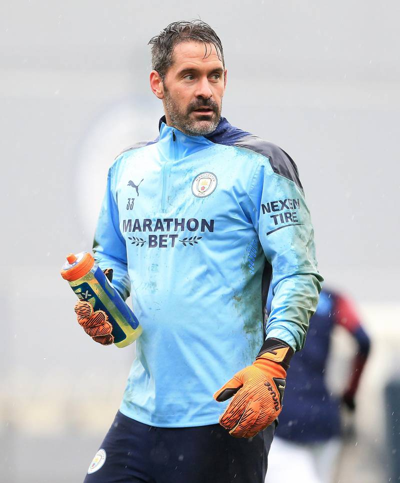 MANCHESTER, ENGLAND - DECEMBER 04: Scott Carson of Manchester City in action during a training session at Manchester City Football Academy on December 04, 2020 in Manchester, England. (Photo by Matt McNulty - Manchester City/Manchester City FC via Getty Images)