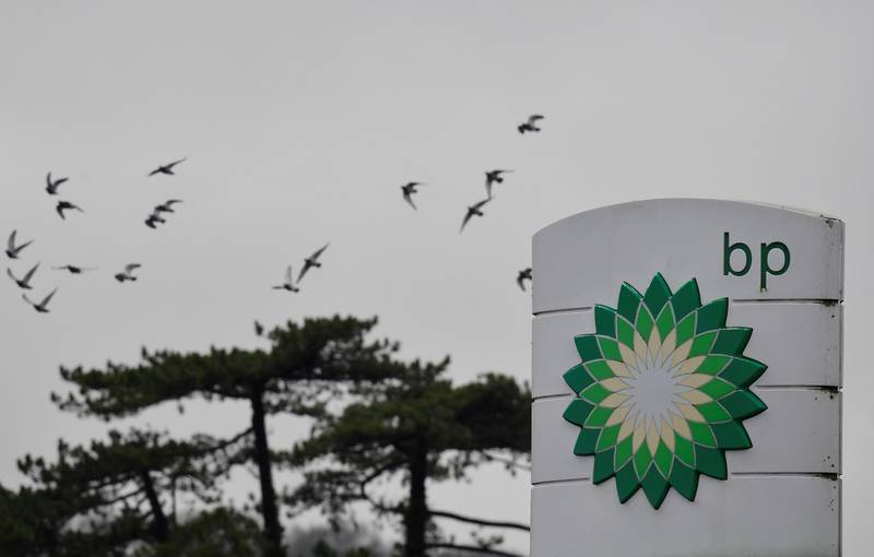 Signage is seen for BP (British Petroleum) at a service station near Brighton, Britain, January 30, 2021. Picture taken January 30, 2021. REUTERS/Toby Melville