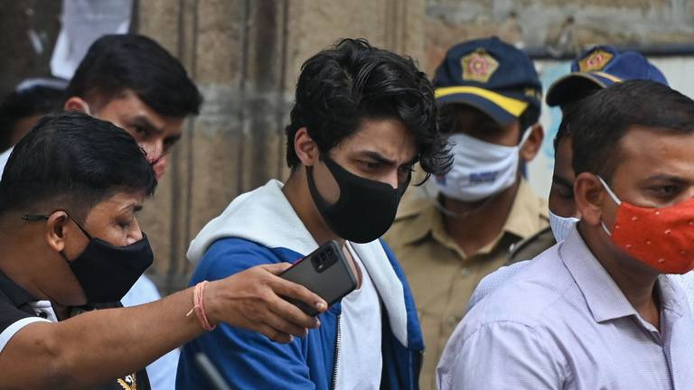 An image that illustrates this article Indian court rejects Aryan Khan bail plea in drug bust case