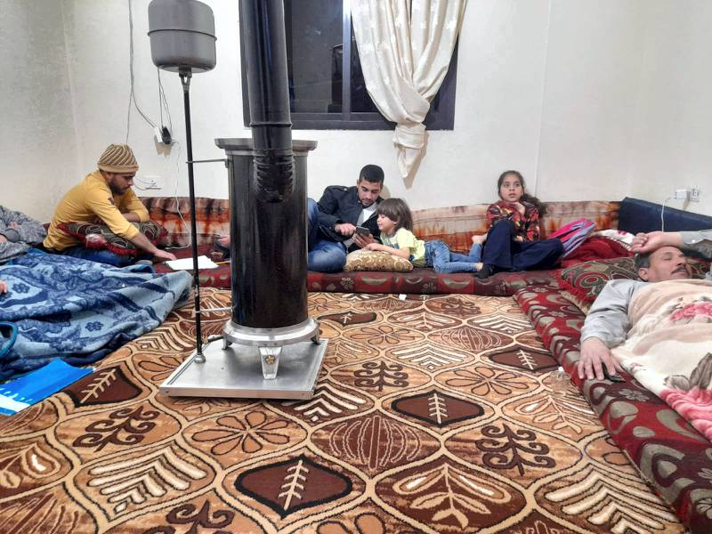 Mohammed Jomaa and his family in their house in Lebanon. Courtesy Mohammed Jomaa