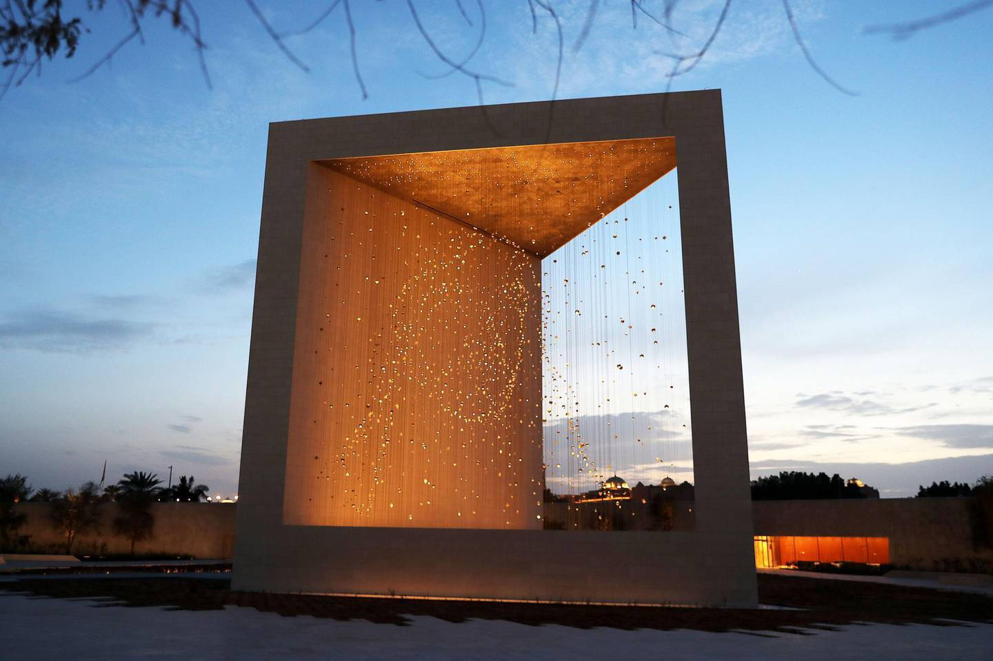 ABU DHABI , UNITED ARAB EMIRATES , APRIL 10   – 2018 :- View of The Founder's Memorial which commemorates the late Sheikh Zayed bin Sultan Al Nahyan the founding father of the United Arab Emirates near the Emirates Palace in Abu Dhabi. ( Pawan Singh / The National ) For News. Story by Anna