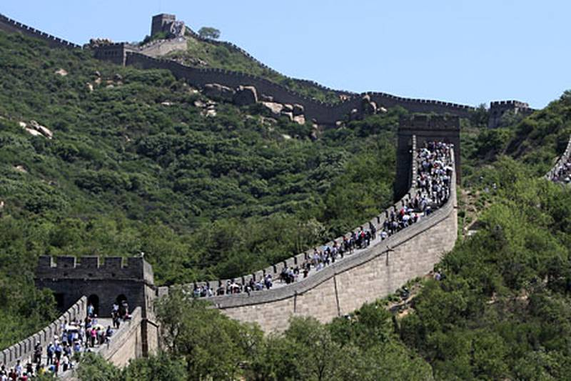 BADALING, CHINA - May 22, 2009: Tourists visit the Great Wall of China at Badaling, about 90 minutes from Beijing. ( Ryan Carter / The National )*** stock, great wall of china, china