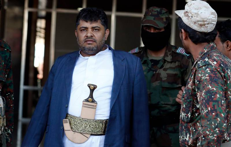epa08031124 Top Houthi leader Mohammed Ali al-Houthi arrives at Sanaa Airport to receive Houthi detainees after they were released by Saudi Arabia, in Sanaa, Yemen, 28 November 2019. According to reports, 128 Houthi detainees were repatriated from Saudi Arabia to the Houthi-controlled Sanaa.  EPA/YAHYA ARHAB