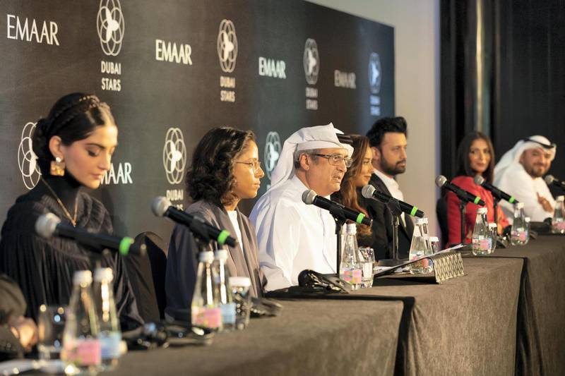 DUBAI, UNITED ARAB EMIRATES. 20 OCTOBER 2019. Dubai Stars press conference at the Palace Hotel in Downtown Dubai. (Photo: Antonie Robertson/The National) Journalist: None. Section: National.