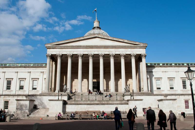 D7GMY0 University College London Portico building, by William Wilkins, London, UK