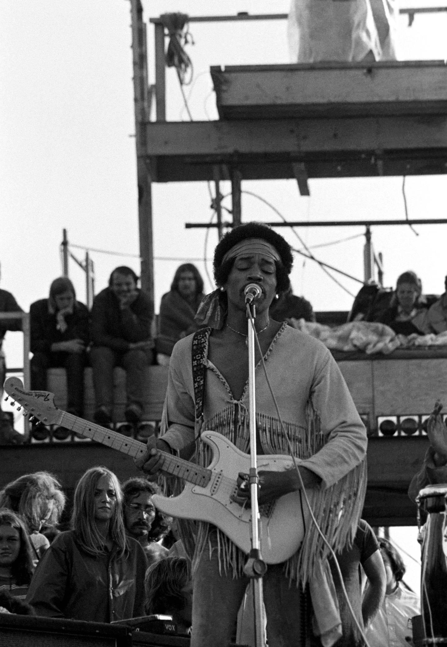 Mandatory Credit: Photo by Peter Tarnoff/Mediapunch/Shutterstock (9853935a)Jimi HendrixWoodstock - 18 Aug 1969