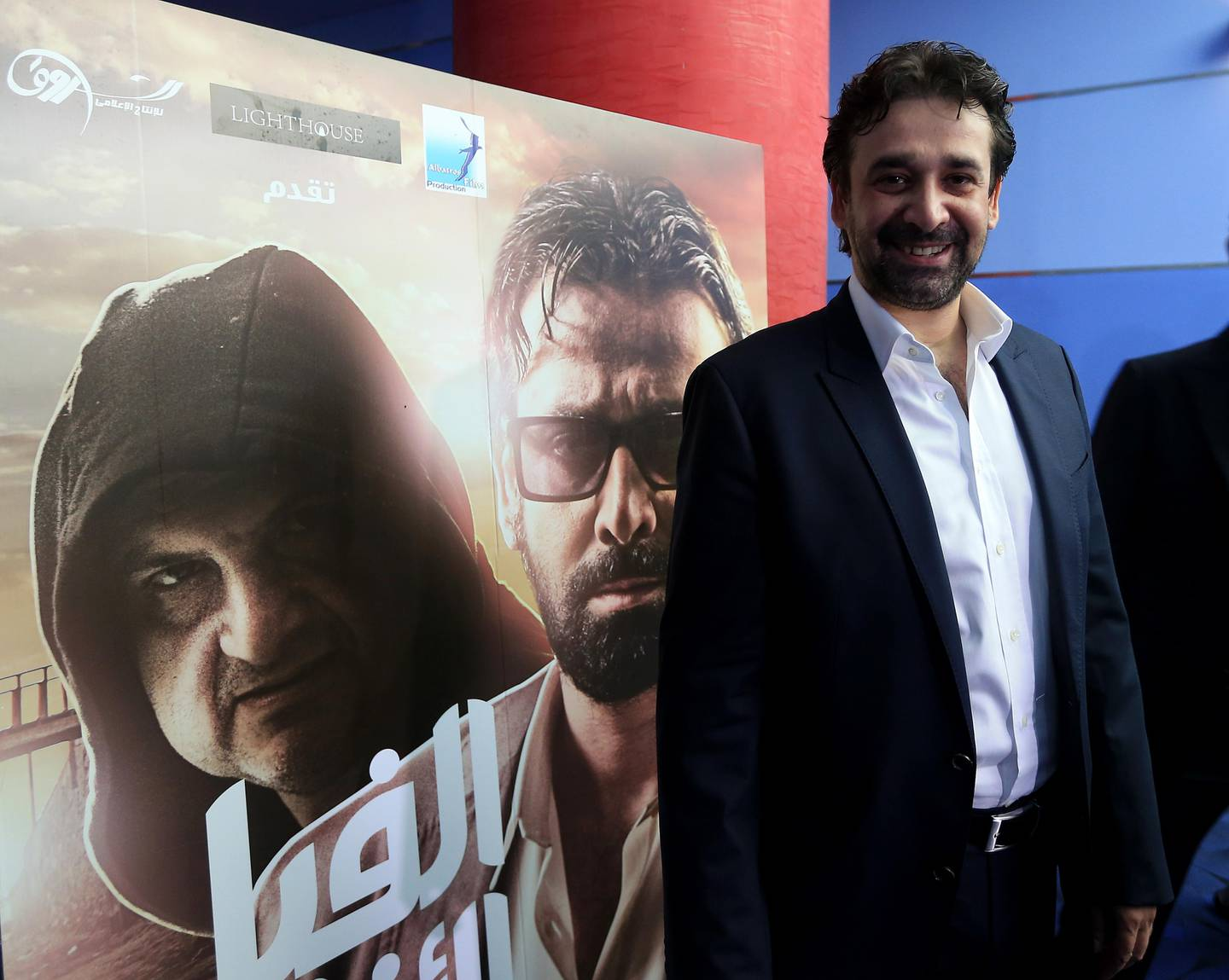 DUBAI - UNITED ARAB EMIRATES - 11AUG2014 - Karim Abdel Aziz, movie star of Blue Elephant before the press conference and preview of the movie on Monday at Dubai Festival city mall. Ravindranath K / The National (to go with Christopher Newbould story for Arts and Life)