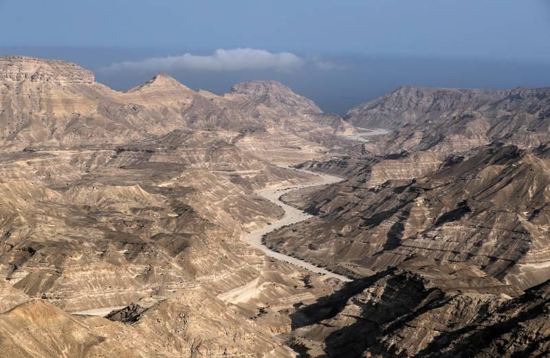 Dhofar, Oman - September 28, 2018: The modern south Arabian language of Bathari is spoken by 12 people from the remote region around Shuwaimiyyah, 300 km west of Salalah. Friday, September 28th, 2018 in Between Salalah and Shuwaimiyyah, Oman. Chris Whiteoak / The National