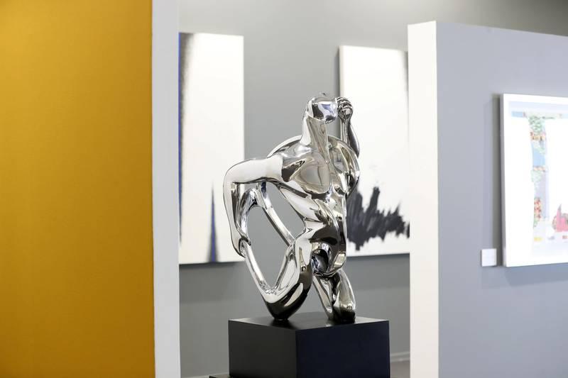 Dubai, United Arab Emirates - Reporter: Alexandra Chaves. Arts and Lifestyle. Idiosyncrasy by Masoud Akhavanjam. Art Dubai 2021 opens at the DIFC. Tuesday, March 30th, 2021. Dubai. Chris Whiteoak / The National