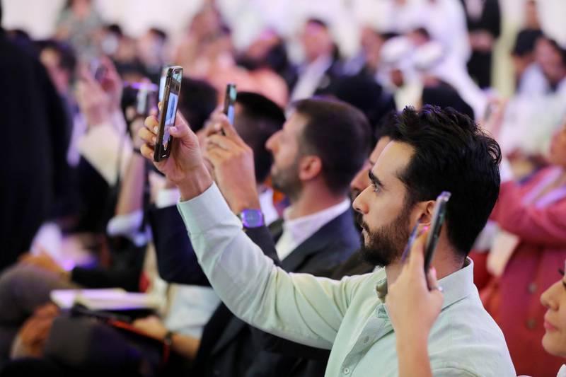 Abu Dhabi, United Arab Emirates - October 16, 2019: The launch of Mohamed bin Zayed University of Artificial intelligence. Wednesday the 16th of October 2019. Masdar City, Abu Dhabi. Chris Whiteoak / The National