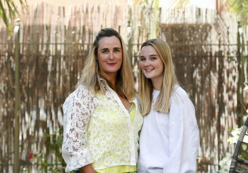 Abu Dhabi, United Arab Emirates - Hilary Rowe, and her daughter Hannah Rowe, 17, on female financial empowerment, at Mangrove Village. Khushnum Bhandari for The National