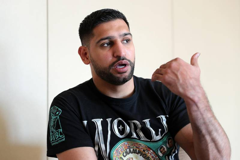 DUBAI, UNITED ARAB EMIRATES , December 28 – 2020 :- Amir Khan, British professional boxer during the interview at the Fairmont The Palm hotel on Palm Jumeirah in Dubai. ( Pawan Singh / The National ) For News/Online/Instagram. Story by Kelly