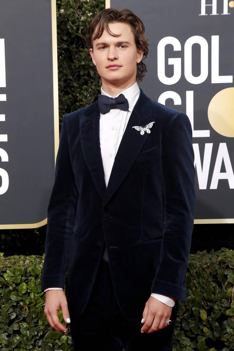 epa08105925 Ansel Elgort arrives for the 77th annual Golden Globe Awards ceremony at the Beverly Hilton Hotel, in Beverly Hills, California, USA, 05 January 2020.  EPA-EFE/NINA PROMMER