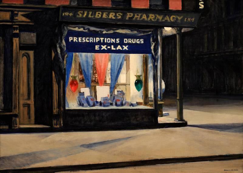 W440M3 Edward Hopper, Drug Store, 1927. Alamy