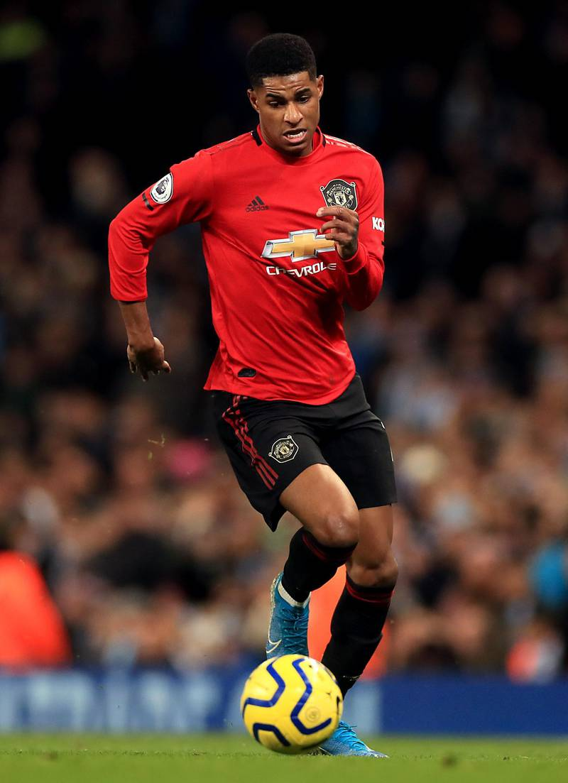 File photo dated 07-12-2019 of Manchester United's Marcus Rashford. PA Photo. Issue date: Saturday March 28, 2020. Marcus Rashford has revealed he is in a Òmuch better placeÓ in recovery from the back injury that has sidelined him since January. See PA story SOCCER Man Utd. Photo credit should read Mike Egerton/PA Wire.