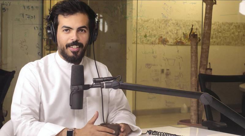 Abdulrahman Abumalih's podcast Fnjan in Saudi Arabia
