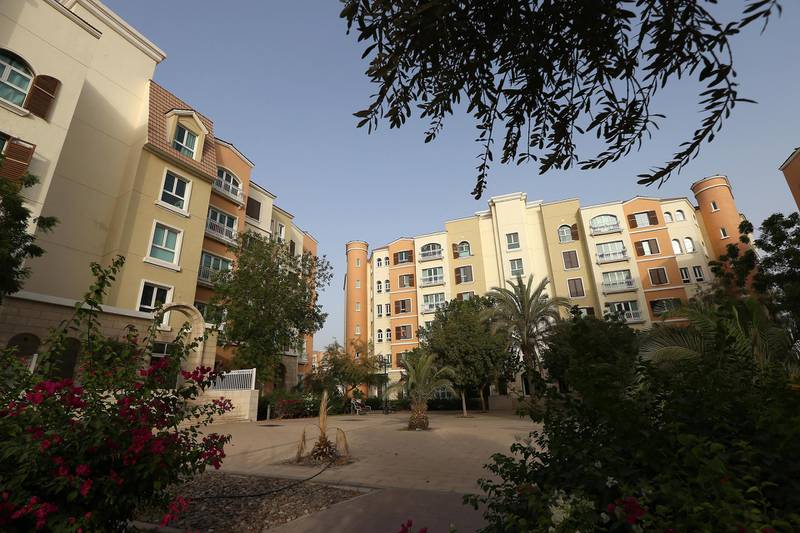 DUBAI , UNITED ARAB EMIRATES Ð May 17 , 2015 : View of the residential apartments in Discovery Gardens area developed by Nakheel in Dubai. ( Pawan Singh / The National ) For Business Stock *** Local Caption ***  PS1705- DISCOVERY GARDENS24.jpg